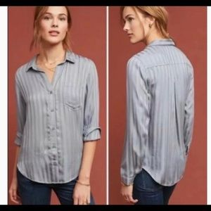 Anthropologie Cloth & Stone Grace Button Down Top
